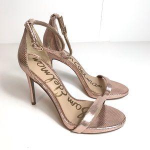 Sam Edelman Ariella rose gold heels like new